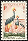 Black Crowned Crane Balearica pavonina  1960 Fauna protection