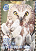 Northern Saw-whet Owl Aegolius acadicus  1998 Animals of the world, Rotary 9v sheet