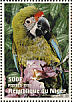 Military Macaw Ara militaris  1998 Animals of the world, Parrots Sheet