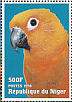 Sun Parakeet Aratinga solstitialis  1998 Animals of the world, Parrots Sheet
