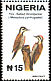 Fire-bellied Woodpecker Chloropicus pyrrhogaster  2001 Definitives 8v set