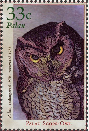 Palau Owl Stamps