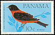 Crimson-backed Tanager Ramphocelus dimidiatus  1965 Birds