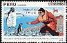 Adelie Penguin Pygoscelis adeliae  1991 2nd Peruvian scientific expedition to Antarctica 3v set