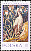 White Stork Ciconia ciconia  1970 Tapestries in Wawel Castle 7v set