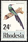 Green Wood Hoopoe Phoeniculus purpureus  1977 Birds of Rhodesia