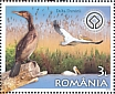Great White Pelican Pelecanus onocrotalus  2019 Romania, a European treasure 6v sheet