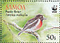 Pacific Robin Petroica pusilla  2009 WWF Sheet with 2 sets