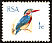 African Pygmy Kingfisher Ispidina picta  1969 Definitives