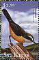 Bananaquit Coereba flaveola  2001 Flora and fauna of the Caribbean 6v sheet