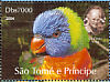 Rainbow Lorikeet Trichoglossus moluccanus  2004 Sir Peter Scott 9v sheet