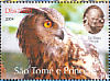 Eurasian Eagle-Owl Bubo bubo  2004 Sir Peter Scott 9v sheet