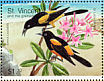 St. Lucia Oriole Icterus laudabilis  1998 Endangered species of the Caribbean 6v sheet