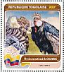 Andean Condor Vultur gryphus  2016 Fauna of the world 4v sheet
