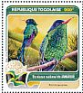 Red-billed Streamertail Trochilus polytmus  2016 Fauna of the world 4v sheet