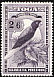 Maroon Shining Parrot Prosopeia tabuensis  1942 Definitives wmk crown