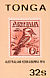 Laughing Kookaburra Dacelo novaeguineae  1984 Ausipex, stamp on stamp Sheet, sa