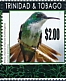 White-chested Emerald Chrysuronia brevirostris  2019 Surcharge on 2010.02 10v sheet