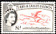 American Flamingo Phoenicopterus ruber  1957 Definitives Queen at left