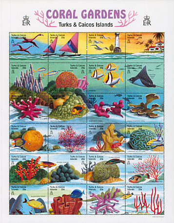 Birds on stamps Turks Caicos Islands