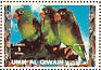 Orange-chinned Parakeet Brotogeris jugularis  1972 Birds