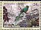 Resplendent Quetzal Pharomachrus mocinno  2001 Endangered species 4v set