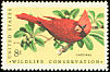 Northern Cardinal Cardinalis cardinalis  1972 Wildlife conservation 4v set