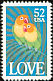 Fischer's Lovebird Agapornis fischeri  1991 Greetings stamps 2v set