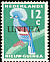 Western Crowned Pigeon Goura cristata  1962 Overprint UNTEA on Neth New Guinea 1954-9.01