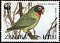 Black-cheeked Lovebird Agapornis nigrigenis  1996 WWF