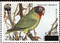 Black-cheeked Lovebird Agapornis nigrigenis  2003 Surcharge on 1996.01